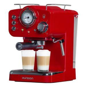 Espressomaschine Kompatibel mit Kaffeepads nach ESE-Standard Oursson EM1500/RD