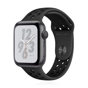 Apple Watch (Series 4) Septembre 2018 44 mm - Aluminium Gris sidéral - Bracelet Sport Nike Noir