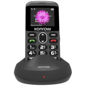 Konrow Senior Dual Sim - Noir- Débloqué
