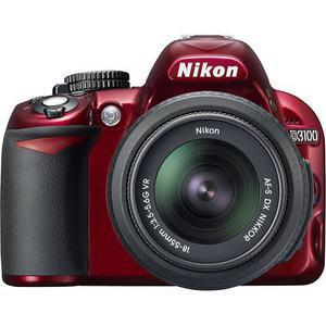 Reflex - Nikon D3100 Rouge Nikon AF-S DX Nikkor 18-55mm f/3.5-5.6G VR