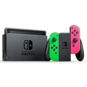 Nintendo Switch 32GB Console - Zwart + 2 Joy-Con Controllers - Groen / Roze