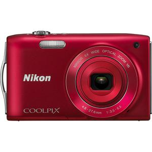 Kompakt Kamera Nikon Coolpix S3300 - Rot