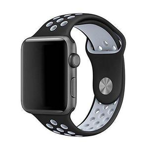 Apple Watch (Series 3) September 2017 38 mm - Aluminium Spacegrijs - Armband Nike sport armband Antraciet/Zwart