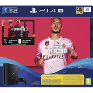 Console Sony PlayStation 4 Pro 1 To + FIFA 20 - Noir