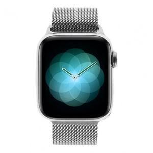 Apple Watch (Series 4) September 2018 40 mm - Roestvrij staal Zilver - Armband Milanees Zilver