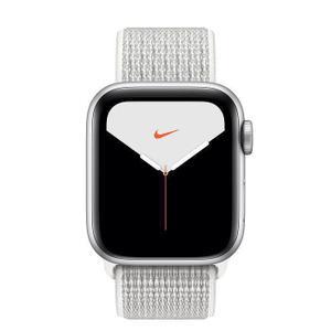 Apple Watch (Series 4) Septembre 2018 44 mm - Aluminium Gris - Bracelet Boucle Sport Argent