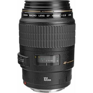 Lente Canon EF 100mm f / 2.8 Macro SLR USM - Negro