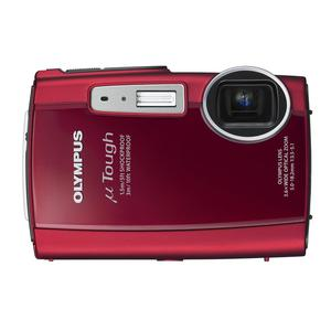 Compactcamera Olympus µ Tough 3000 - Rood + Lens Olympus 3.6X Wide Optical Zoom