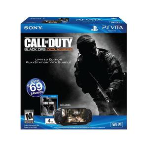 Console Sony PlayStation Vita Wifi Edition Call Of Duty 4 Go - Noir