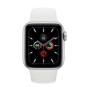 Apple Watch (Series 5) Septembre 2019 40 mm - Aluminium Argent - Bracelet Sport Blanc