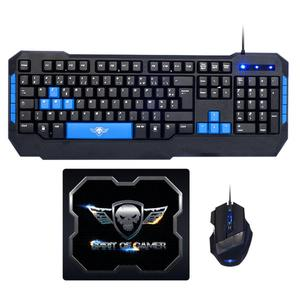Spirit Of Gamer Tastatur AZERTY Französisch mit Hintergrundbeleuchtung Pro MK6