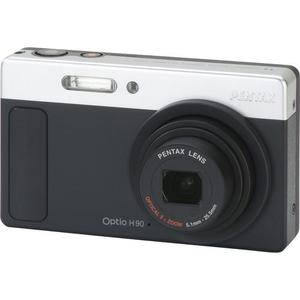 Kompaktikamera Pentax Optio H90 - Musta/Hopea + objektiivi Pentax Optical Zoom Lens 28-140 mm /3.5-5.9