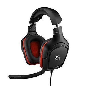 Kopfhörer Gaming mit Mikrophon Logitech G332 - Schwarz/Rot