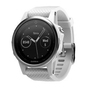 Smart Watch Cardiofrequenzimetro GPS Garmin Fenix 5S - Argento/Bianco