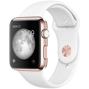 Apple Watch (Series 3) 2017 38 mm - Alumiini - Armband Sport loop Wit