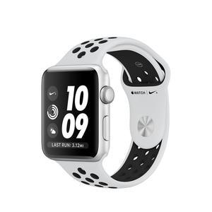 Apple Watch (Series 3) Syyskuu 2017 42 mm - Alumiini Hopea - Armband Sport Nike