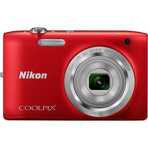 Compact - Nikon Coolpix S2800 Rouge Nikon Nikkor Optical Zoom 26-130mm f/3.2-6.5