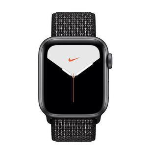 Apple Watch (Series 5) 40 mm - Aluminium Gris sidéral - Bracelet Nylon tissé Noir