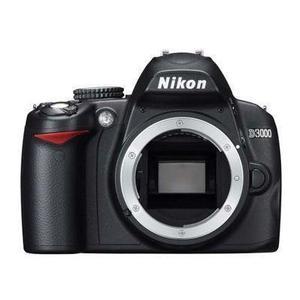 Spiegelreflexkamera Nikon D3000 Gehäuse - Schwarz