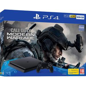 Gameconsole Sony PlayStation 4 Slim 500GB + Controller + Call Of Duty Modern Warfare - Zwart