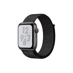 Apple Watch (Series 4) September 2018 44 mm - Aluminium Space Grau - Armband Nylonarmband Schwarz/Anthrazit