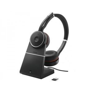 Evolve 75 UC Duo Geluidsdemper Hoofdtelefoon - Bluetooth Microfoon Zwart