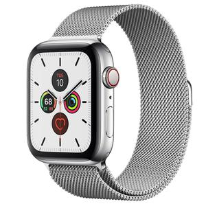 Apple Watch (Series 5) September 2019 44 - Aluminium Silver - Milanese Silver