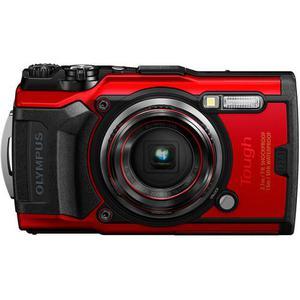 Compactcamera Olympus Tough TG-6 - Rood/Zwart + Lens Olympus 4X Wide Optical Zoom