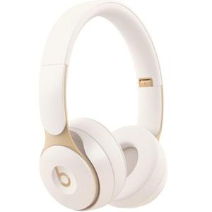 Beats By Dr. Dre Solo Pro Noise-Cancelling Bluetooth Headphones with microphone - Ivory
