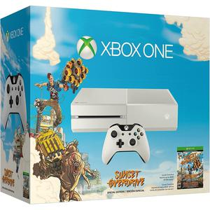 Console Xbox One 500Go - Blanc + Sunset Overdrive