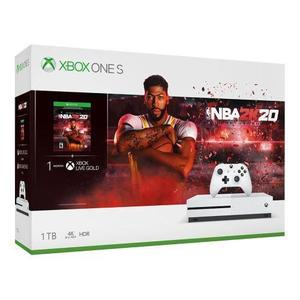 Konsoli Microsoft Xbox One S 1TB + 1 Ohjain + NBA 2K20 - Valkoinen