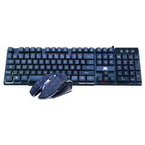 Freaks And Geeks Tastatur AZERTY Französisch mit Hintergrundbeleuchtung Poly Chroma CS-200