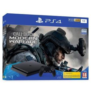 Sony PlayStation 4 Slim 1TB Console + Controller + Game Call of Duty Modern Warfare - Zwart