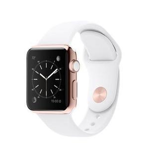 Apple Watch (Series 3) Septembre 2017 38 mm - Aluminium Or rose - Bracelet Sport Blanco