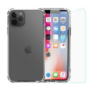 Pack Coque iPhone 11 Pro transparente anti-chute en TPU & polycarbonate + Verres Trempés