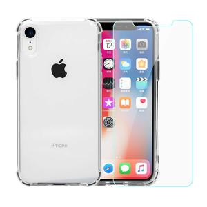 Pack Coque iPhone XR transparente anti-chute en TPU & polycarbonate + Verres Trempés
