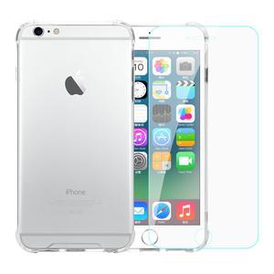 TPU- iPhone 6 Plus/6S Plus + gehärtetes Glas