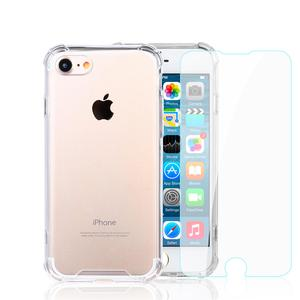 Pack Coque iPhone 7/8 transparente anti-chute en TPU & polycarbonate + Verres Trempés