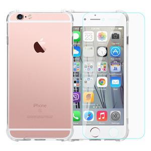 Pack Coque iPhone 6/6S transparente anti-chute en TPU & polycarbonate + Verres Trempés