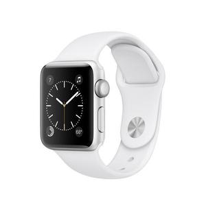 Apple Watch (Series 2) 38 - Aluminium Argent - Bracelet Sport Blanc