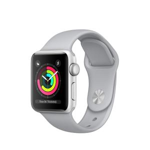 Apple Watch (Series 3)  38 mm - Aluminium Argent -  Bracelet Sport Gris