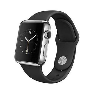 Apple Watch (Series 2) 38 - Acier inoxydable Argent - Bracelet Sport Noir