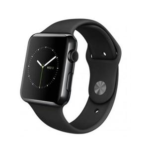 Apple Watch (Series 2) December 2016 38 mm - Roestvrij staal Zwart - Armband Sport armband Zwart