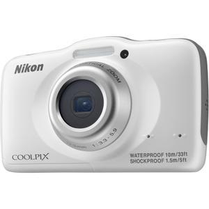 Kompakt Kamera Nikon CoolPix S32 Weiß + Objektiv Nikon Nikkor 4.1-12.3 mm f/3.3-5.9