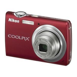 Compactcamera Nikon COOLPIX S220 Rood + Lens Nikon Nikkor 3x Optical Zoom 6.3-18.9 mm f/3.1-5.9