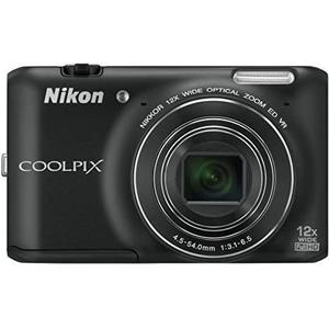 Compactcamera Nikon Coolpix S6400 - Zwart + Nikon Nikkor Wide Optical Zoom 25-300 mm f/3.1-6.5