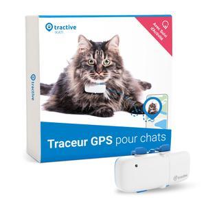 Rastreador GPS Tractive para gato: seguimiento de actividad, impermeable, alcance ilimitado, para cualquier collar de gato