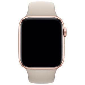 Apple Watch (Series 5) Septembre 2019 44 mm - Aluminium Or - Bracelet Sport Gris