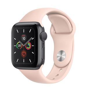 Apple Watch (Series 4) Septiembre 2018 44 mm - Acero inoxidable Gris espacial - Correa Deportiva Rosa