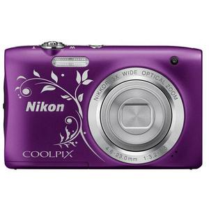Compact - Nikon Coolpix S2900 Mauve Nikon Nikkor 5x Wide Optical Zoom Lens 26-130mm f/3.2-6.5